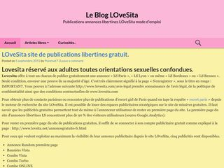 Le blog authentique du site internet Lovesita
