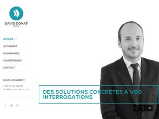 Le site internet de David Donat, avocat à Mulhouse