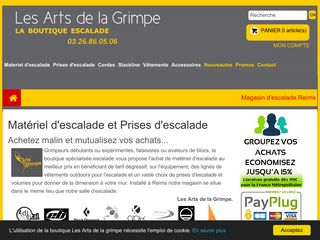 La boutique escalade Les Arts de la grimpe