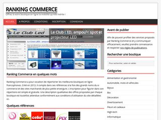Ranking Commerce, annuaire ecommerce