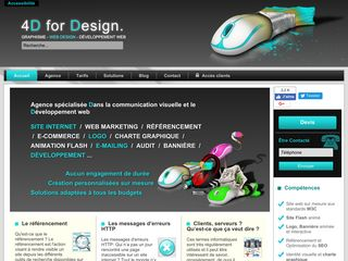 4D for Design: Création de site internet et developpement Web