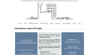 Ethos Expertise – Cabinet d'expertise CHSCT agréé