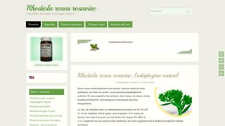 Rhodiola rosea alternative anti stress Conua