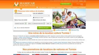 Location voiture Tunisie: Mamicar Tunisie