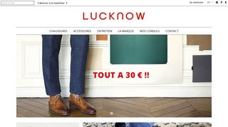 Chaussures hommes boutique Luck Now
