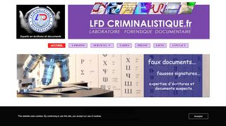 LFD CRIMINALISTIQUE.FR. Expertise documentaire.